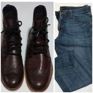 Crevo memory Foam Boot & Lucky brand jean